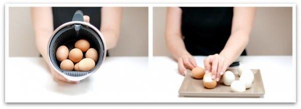 Paso a paso de la receta de nuestro huevos WOP :D: Cuécelos y cáscalos