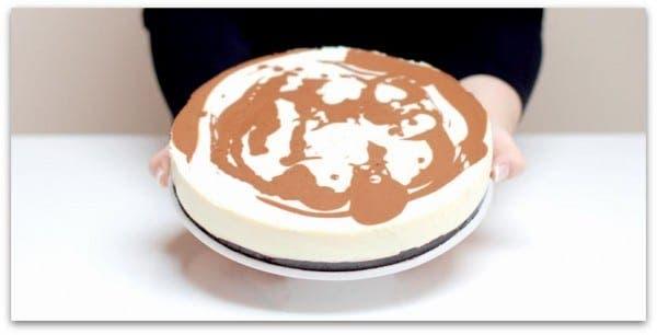 """Tarta de queso y dos chocolates """"marmolada"""" con Thermomix"""
