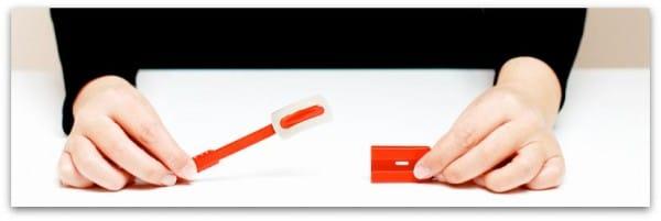 Esta es la cuchilla que uso para hacer cortes en el pan