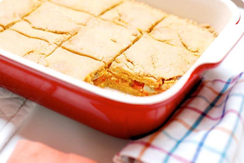 Receta de empanada de maíz con berberechos con Thermomix®