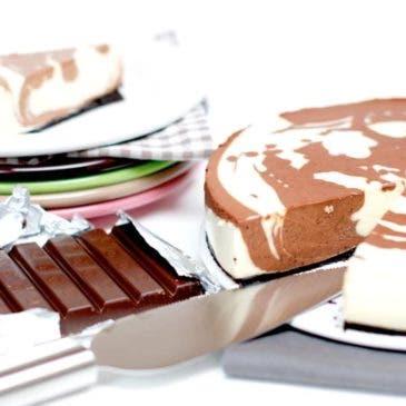 """Tarta de queso y dos chocolates """"marmolado"""""""