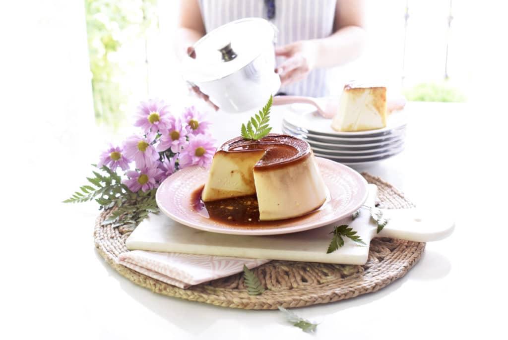 Flan de queso cremoso