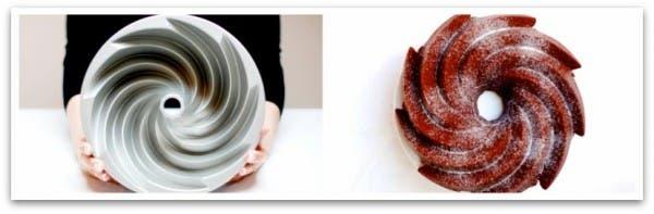 Así queda nuestra receta Red Velvet Bundt Cake desde arriba