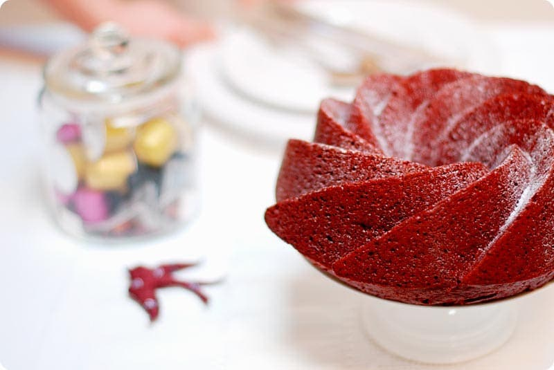 Receta de Red velvet bundt cake con Thermomix