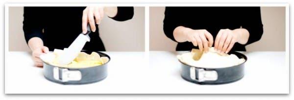 Extiende bien el relleno y pasa a tapar la Tortilla en hojaldre
