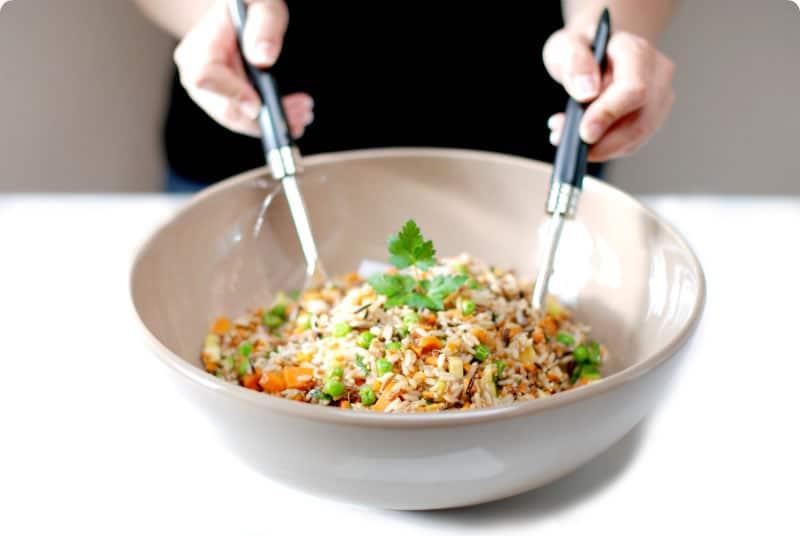Ensalada de arroz salvaje con verduras con thermomix - Ensalada de arroz light ...