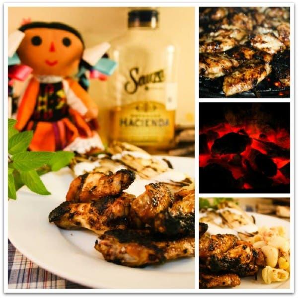 Alitas de pollo al tequila: prepara las brasas y a cocinar