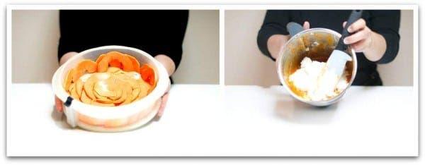 Bavarois de papaya con Thermomix: Haz la base y mezcla la nata