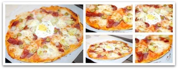 Hornea tu pizza durante unos 15 minutos aproximadamente a 250ºC