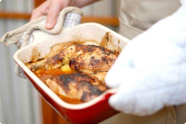 Pollo macerado para barbacoa u horno