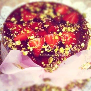 Tarta de fresas para cumpleaños