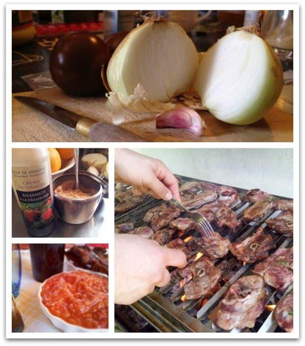 Con todos los ingredientes para preparar una estupenda barbacoa