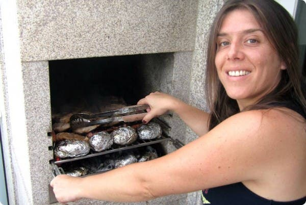 Hoy cocina Amara en su barbacoa casera