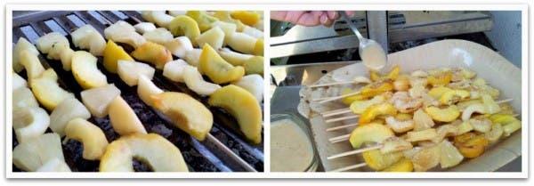 Asa las frutas de temporada que más te gusten en tu BBQ