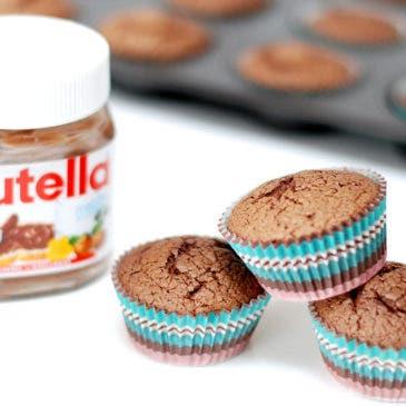 Magdalenas de Nutella sin gluten, impresionantes