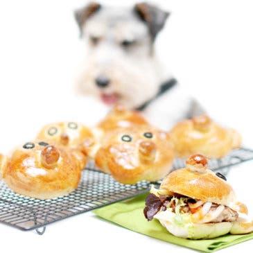 Pan de hamburguesa para niños