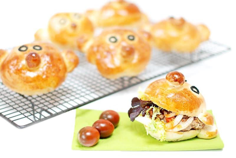 Panecillos de hamburguesa niños