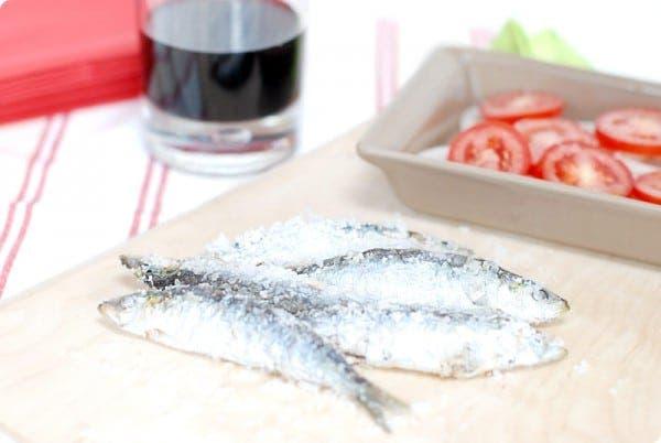 Deliciosas sardinas a la sal en el Varoma
