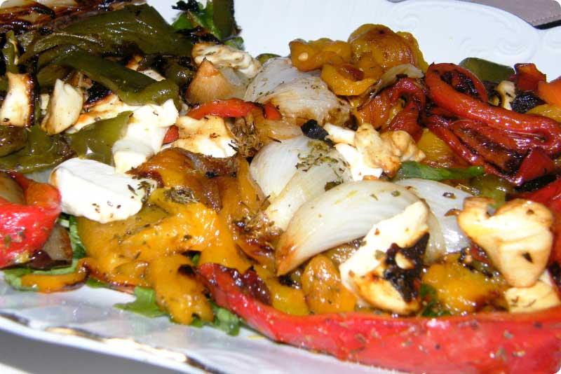 Verduras asadas al rescoldo. Receta tradicional