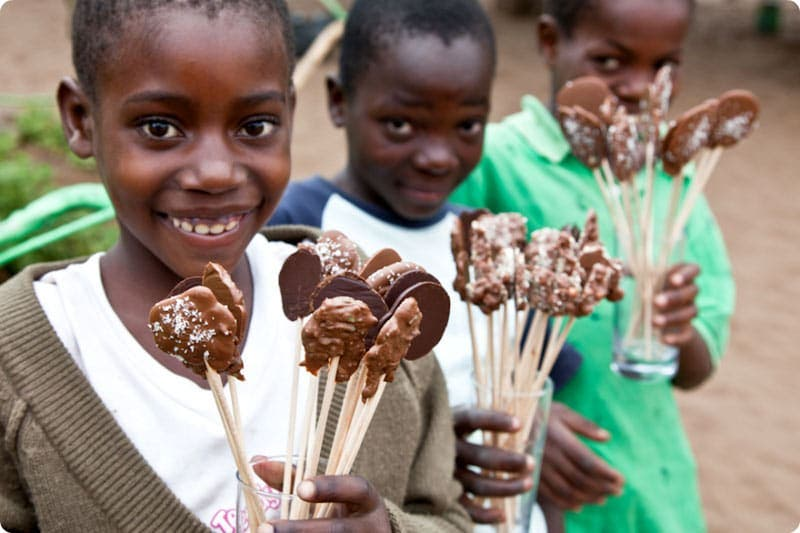 Piruletas de chocolate Khanimambo