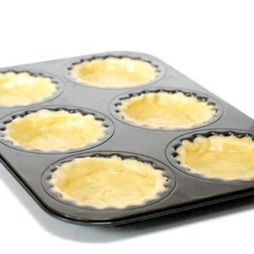 Tartaletas de masa sablé o pasta brisa