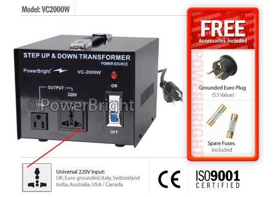 Transformador corriente 110v>220v