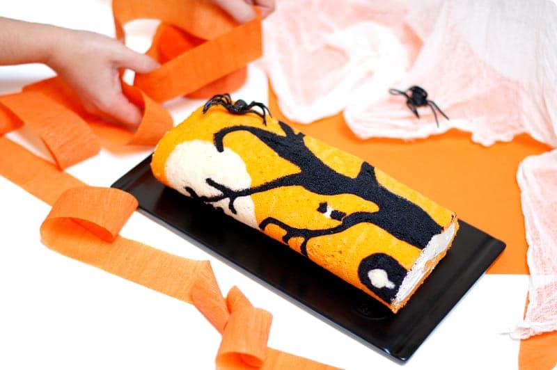 Brazo de gitano decorado para Halloween con Thermomix®
