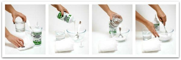 Fantasma de gasa: prepara la cola de carpintero al 50% con agua
