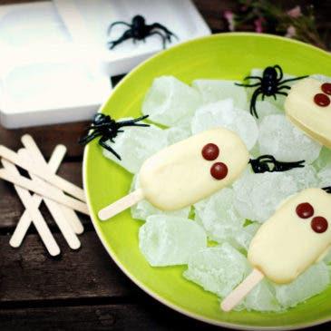 Helados fantasma de vainilla para Halloween