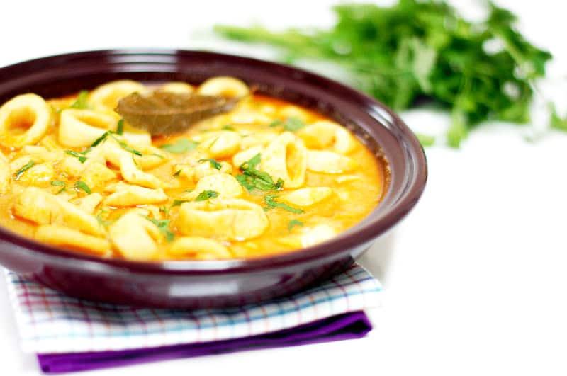 Calamares en salsa de mostaza con Thermomix®