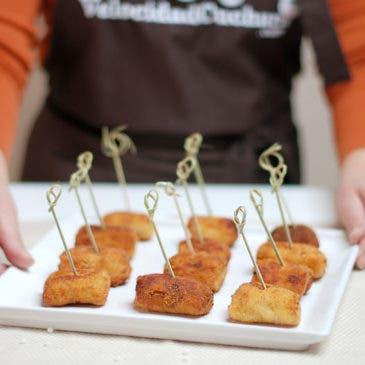 Croquetas de pollo a mano
