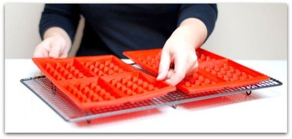 Molde de silicona para preparar 8 gofres a la vez en el horno de Lékué
