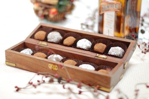 Trufas de chocolate al Cointreau