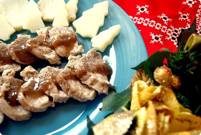 Solomillo iberico en salsa de frutos rojos para Navidad con Thermomix