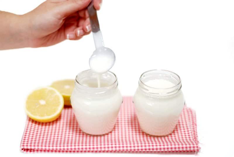 Yogur líquido de limón con Thermomix, fácil y delicioso