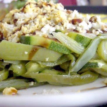 Verduras en Varoma, judias y calabacín