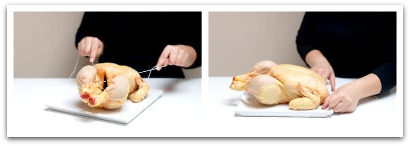 Cómo atar un pollo, paso a paso
