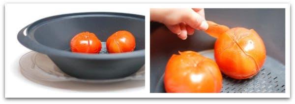 Tomates escaldados  en el varoma
