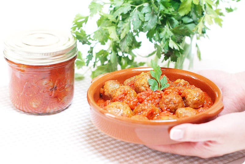 Albóndigas caseras en salsa