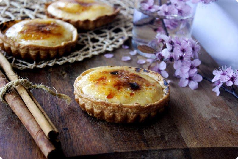 Tartaletas de crema catalana