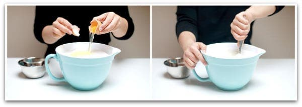 Mezcla la sal con la clara de huevo
