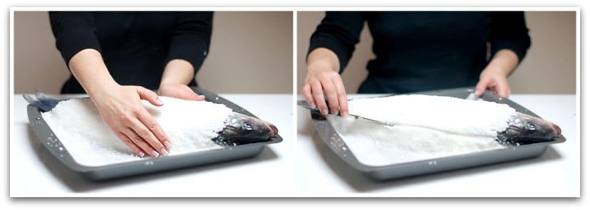 Marca todo el perímetro con un cuchillo para abrir la costra facilmente