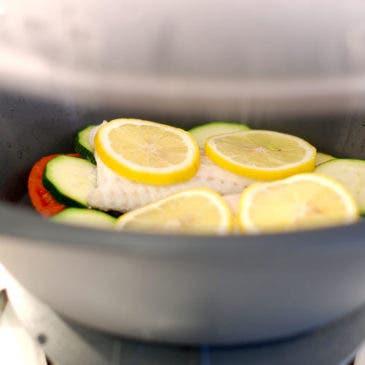 Merluza al limón en el Varoma