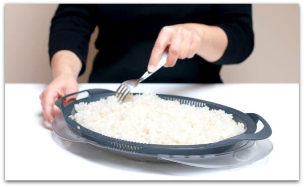 Enfría el arroz en tu bandeja Varoma