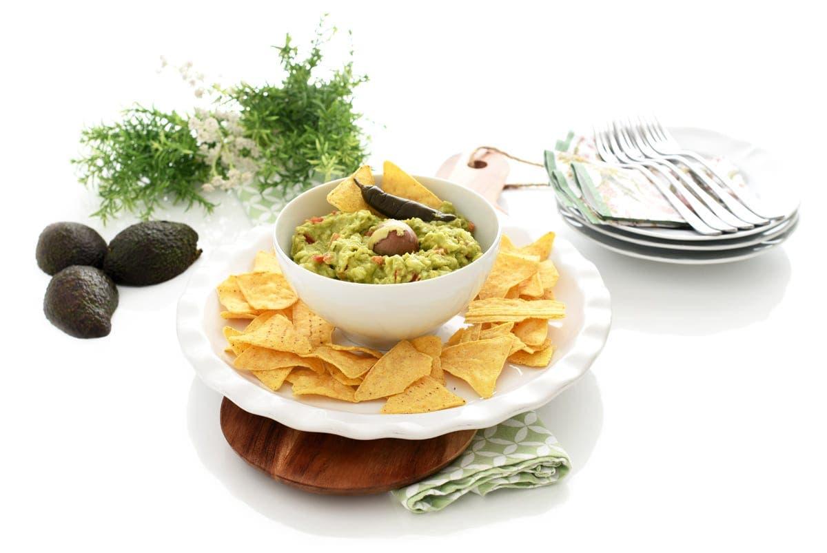 Nachos con guacamole, sin Thermomix