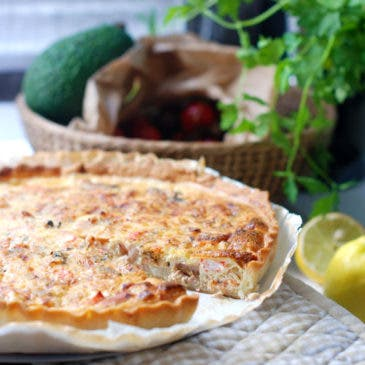 Quiche de frutos del mar exprés