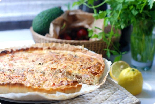 Quiche de frutos del mar, exprés