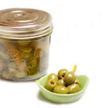 Aceitunas verdes en aceite de cítricos