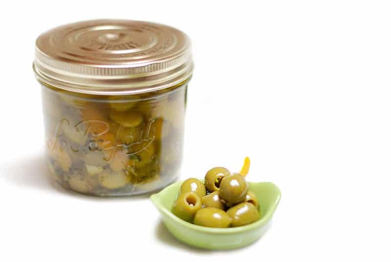 Aceitunas en aceite de cítricos