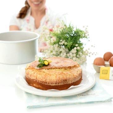 Bizcocho de nata con costra de azúcar